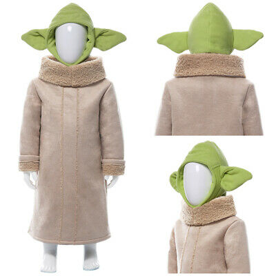 The Mandalorian Yoda Baby Cosplay Costume Halloween Outfit Suit