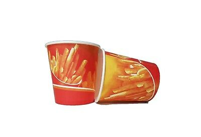12oz Chip Cup Hot Food Disposable Takeaway Chips Print Cups New
