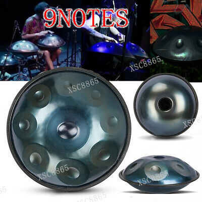 "22 ""9 Notes Professional Hand Drum Handmade Good Sound-blue"