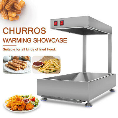 Commercial Electric Churros Warmer Showcase Stainless Steel Food Display Cabinet