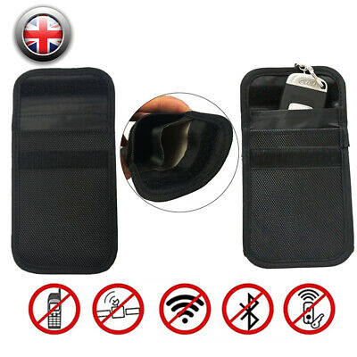1PC Car Key Signal Blocker Case Faraday Cage Fob Pouch Keyless RFID Bag Security