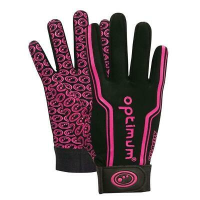 Optimum Sport Velocity Thermal Rugby Gloves Training Insulated Grip-Black/Pink