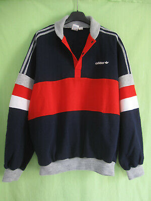 SWEAT ADIDAS VINTAGE 1984 shirt kaki VENTEX made in France