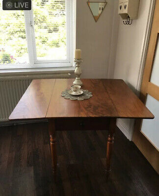 Antique Pembroke Table. Beautiful Flame Mahogany. Drop Leaf.