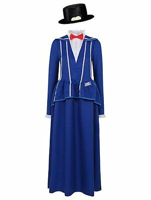 Blu Vittoriano//Edwardiano MARY POPPINS Costume Taglie per adulti