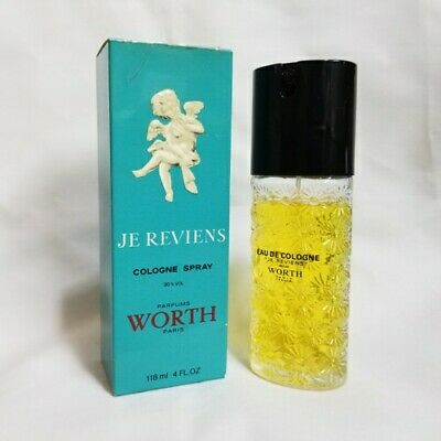 Je Reviens da Worth 118ml/120 ML Colonia Spray per Donna Raro Vintage