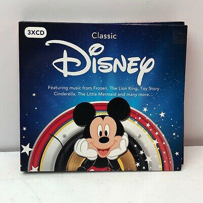 Classic Disney 3x CD Compilation UK Frozen Lion King Toy Story Cinderella Used