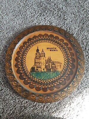Wall Vintage Krawów Wawel Carved Decor Decoration Home Hand Round Art Wooden