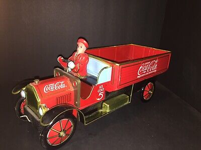 1930's COCA-COLA BRAND TIN DELIVERY TRUCK MAN LIMITED EDITION XONEX With C O A