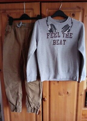 Boys Next Outfit Jumper and Trousers 9-10 Years