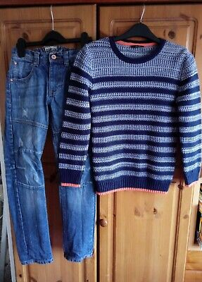 Boys Outfit Next Jeans and George jumper 9-10 Years