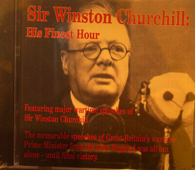 His Finest Hour Wartime Speeches Winston Churchill WW2 Audio CD