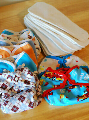 Thirsties Cloth Diapers: 5 Duo Wrap Covers + 7 Stay-dry Inserts + 2 bonuses