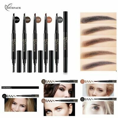 Long Lasting Double Head with Brush Automatic Rotate Eyebrow Pencil Brow Tint