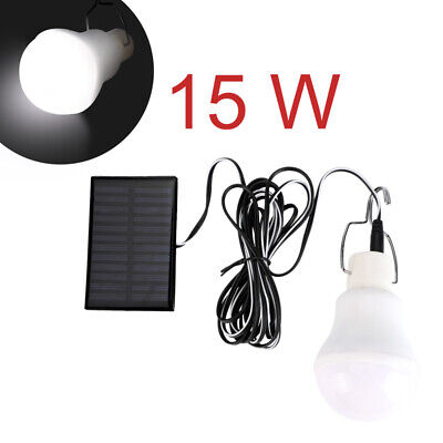 20W Solar Powered LED Light Bulbs Outdoor Indoor Camping Tent Rechargeable O9M2