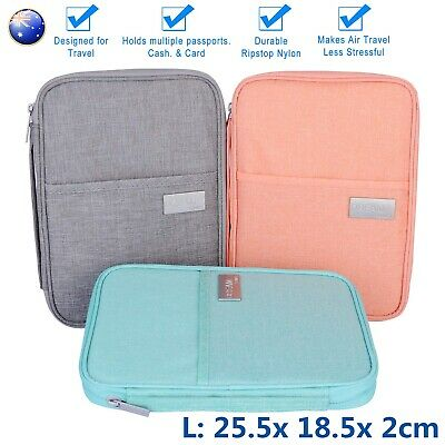 Waterproof Passport Holder Travel Document Wallet Bag Family Case Card Organizer