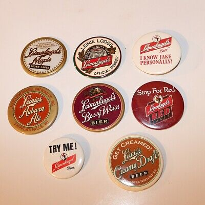 Leinenkugel's Beer Pinback Buttons - Lot of 8