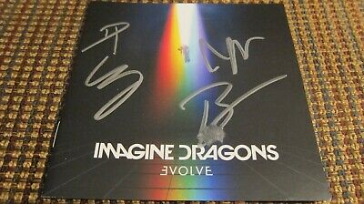 Imagine Dragons Evolve FULLY SIGNED cd booklet autographed 2017