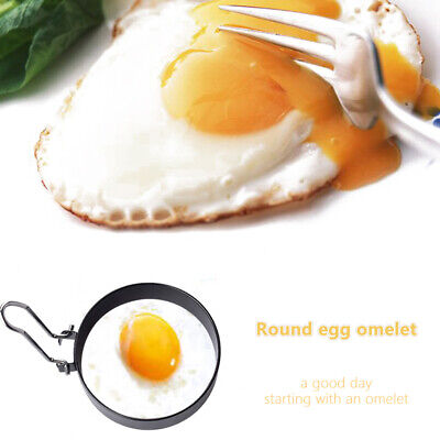 2PC NON STICK LARGE EGG RINGS POACHING POACHED OR FRIED EGG RINGS FRYING NEW PAN