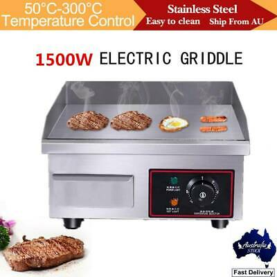 1500W Commercial  Electric Griddle Grill Plate BBQ Grill Cooker Countertop Plate