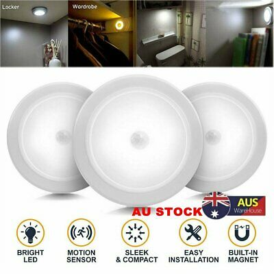 Magnet 6 LED Motion Sensor Night light Indoor Outdoor Stairs Hallway wall Lamps