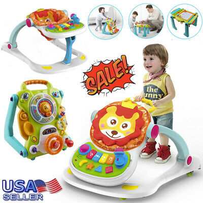 3-in-1 Early Development Toy Baby Sit to Stand Interactive Learning Baby Walker