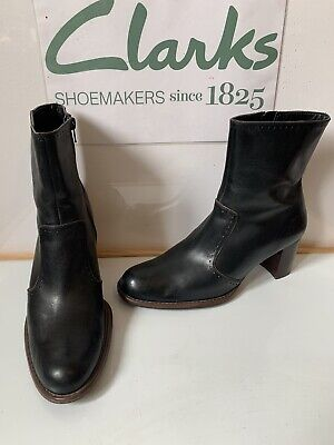 Clarks Smart Black Leather Boots Size UK 6 EU 39.5 in excellent condition
