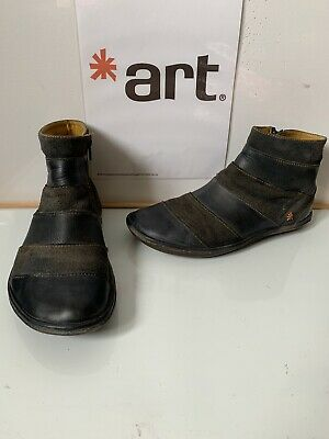 Size UK 9 EU 42 FINERY Hadleigh Women/'s Black Leather Military-Style Boots