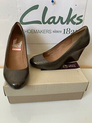 Clarks Elsa Purity Smart Leather Shoes Size UK 6.5 EU 40 in excellent condition