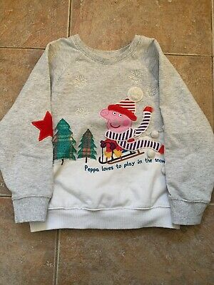 Peppa Pig Christmas Jumper Aged 4-5