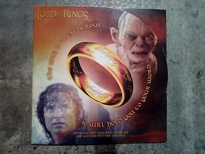 New Zealand 2003 LORD OF THE RINGS 6x 50 Cents UNC Coin Set Royal Mint Folder