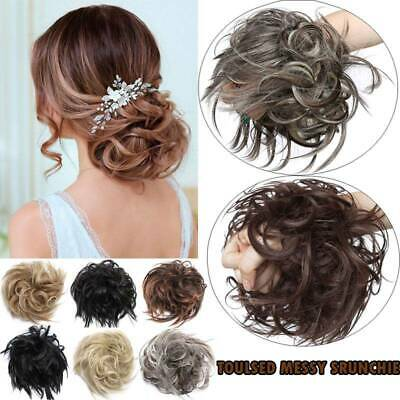Lady Thick Messy Bun Hair Piece Scrunchie Updo Wrap Hair Extension as real human