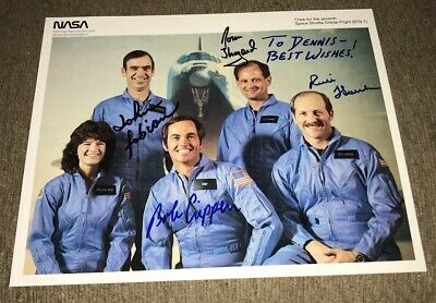 Space Shuttle Sts-7 Crew Lithograph Signed By Four Nasa 8X10 Crippen Thagard