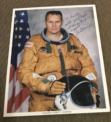 Space Shuttle Astronaut Robert Overmyer Signed/Autographed Nasa 8X10 Lithograph