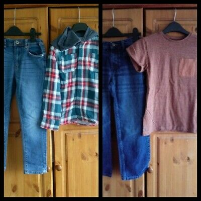 boys outfits bundle shirt,top and jeans Next,BHS 7-8 years