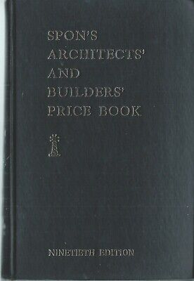 Spon's Architects' & Builders' Price Book, 19th edition 1964-65