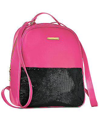 Juicy Couture Fuchsia Pink & Black Sequins Nylon Backpack PACKAGED