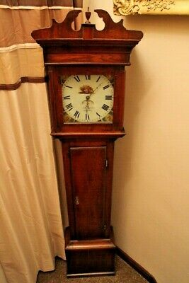 Antique oak & mahogany 30hr longcase clock 18th century John Nicholas Daventry