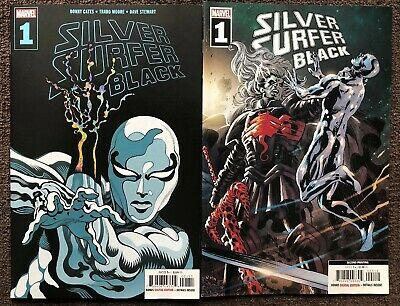 Silver Surfer Black #1 1st Print & 2nd Print Deodato Knull Set VF+ Or Better Ch1
