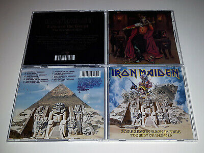 Iron Maiden 2 CD Lot : Edward The Great / Somewhere Back In Time