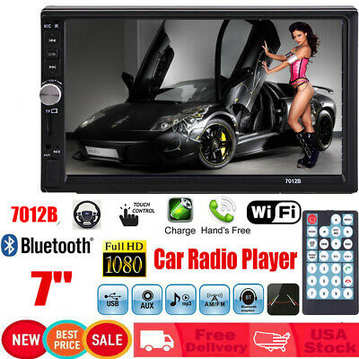 Double 2DIN Bluetooth Car Radio Stereo 7inch Touch Screen MP5 Player FM SD WF