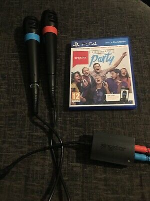 Singstar Ultimate Party Game + 2x Microphones OFFICIAL Mic Playstation 4 PS4 USB