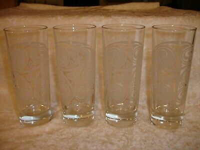 IRISH MIST Celtic Design Tall Shooter Glasses Set Of 4 Made In ITALY MINT