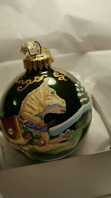Carousel Cat Hand Painted Ornament