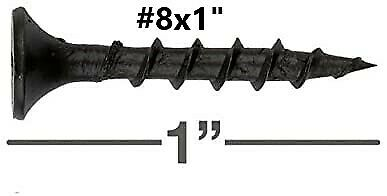 "Phillips Bugle Head #8 x 1""  phosphate Black Coarse Drywall / Wood Screws"