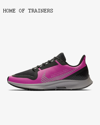Nike Air Zoom Pegasus 36 Shield Fire Pink Black Girls Women's Trainers All Sizes
