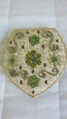 1940,s silk/beaded hand made 2 sided mirror.