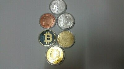 5 Mixed Crypto Currency Commemorative Coins