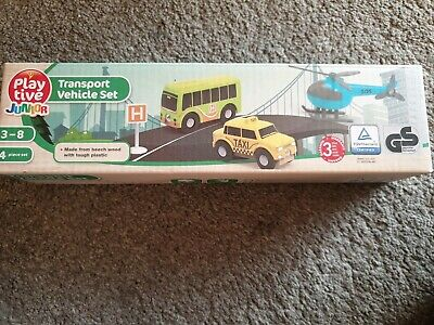 Kids/' Wooden Toy Cars Service Transport Work Vehicles PLAYTIVE