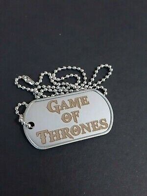 """""""Game Of Thrones"""" (GOT) Engraved Stainless Steel Military Dog Tag Necklace"""